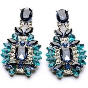 Post Earrings - Ocean Front Property Blue Gem